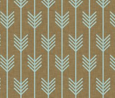 mint_arrow fabric by holli_zollinger on Spoonflower - custom fabric