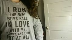"John Green's tumblr: cakeyhankerson: I like to think that John Green would appreciate my new ""running"" shirt."