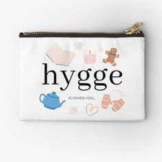 Danish Hygge, Scandinavian Design, Zipper Pouch, Makeup Yourself, Are You The One, Essentials, Things To Come, Cozy, Printed