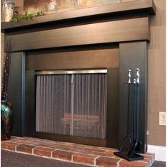 Modern Mantles custom steel fireplace mantel   mantels, fireplace mantel and