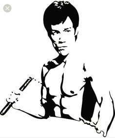 Bruce Lee W/Nunchucks Vinyl Decal Graphic - Choose your Color and Size Skull Stencil, Stencil Art, Stenciling, Bruce Lee Art, Arte Tribal, Art Diy, Stencil Templates, Scroll Saw Patterns, Silhouette Art