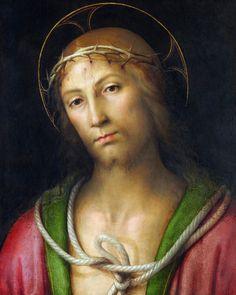 IL PERUGINO (attribuito a) - Cristo coronato di spine - circa 1500-1505 - olio su tavola - National Gallery, Londra
