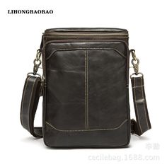 71.99$  Buy now - http://ali9lo.worldwells.pw/go.php?t=32639774470 - 2016 Fashion Shoulder Bags for Men Genuine Leather Men's Messenger Bag Small Travel Crossbody Wax Cross Body Bag Black Brown