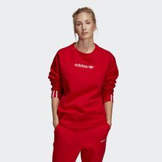 f8195f840a Coeeze Sweatshirt Active Red DU7192 Easy Comforts, Adidas Fashion, Adidas  Logo, Long Sleeve