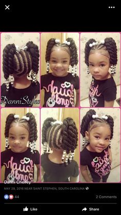 fun hairstyles holiday hairstyles ponytail hairstyles hairstyles for kids to do braids for kids hairstyles for kids hairstyles for girls kids kids hairstyles for girls easy kid hairstyles for girls hairstyles kids hairstyles Little Girl Braid Styles, Kid Braid Styles, Little Girl Braids, Black Girl Braids, Braids For Kids, Girls Braids, Girl Short Hair, Kid Styles, Toddler Braided Hairstyles