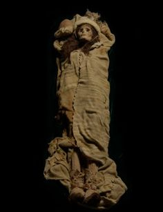 The Beauty of Xiaohe or Little River, 3,800 years old, mummified remains of a Caucasian woman found in Western China along with other European mummies and artifacts. These Tarim Basin mummies are controversial in China as they are evidence of Europeans in China before the Han Chinese themselves. (rw)