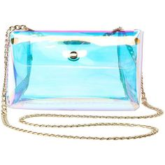 Charlotte Russe Holographic Triangle Crossbody Bag ($10) ❤ liked on Polyvore featuring bags, handbags, shoulder bags, multi, blue handbags, crossbody purse, crossbody shoulder bag, blue shoulder bag and blue purse