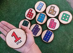 Numicon Number Set 1-10 Log Slices, Double Sided, Colourful Educational Resource. - Fully Varnished  - Natural - Lightweight  FREE POSTAGE  Condition is New. Dispatched with Royal Mail 2nd Class. Maths Display, Numicon, Log Slices, Number Sets, Work Activities, Royal Mail, Eyfs, School Ideas, Numbers