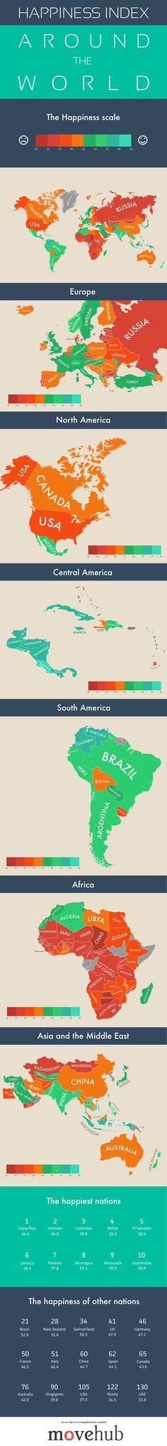 Happiness Index Map