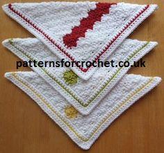 Free Dishcloth crochet pattern from http://www.patternsforcrochet.co.uk/dishcloth-usa.html #crochet