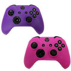 HDE 2 Pack Protective Silicone Gel Rubber Grip Skin Cover for Xbox One Wireless Gaming Controllers Pink  Purple -- Be sure to check out this awesome product.