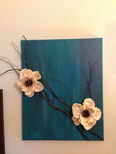 Image result for 4 fabric covered canvas above headboard