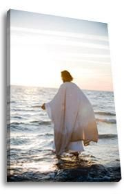 """""""Walking on Water"""" by Mark Mabry. A signature image from the Reflections of Christ collection, Walking on Water depicts Jesus' biblical walk on the Sea of Galilee. Available in sizes from to Lord And Savior, God Jesus, King Jesus, Pictures Of Jesus Christ, Walk On Water, Kirchen, Religious Art, Our Lady, Holy Spirit"""