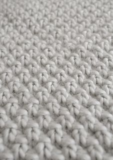 Double Seed Stitch Blanket--Free Pattern