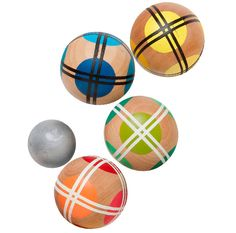 This graphic bocce ball set will become a weekend party obsession.