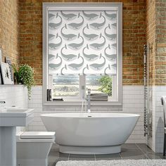 Splash Whale of a Time Slate thumbnail image Roller Blinds Design, Sheer Roller Blinds, Blinds For Velux Windows, Window Blinds, Thermal Blinds, Night Blinds, Beautiful Blinds, Bathroom Blinds