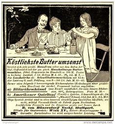 Original-Werbung/ Anzeige 1898 - HAUSHALTUNGS- BUTTERMASCHINE/ VON…