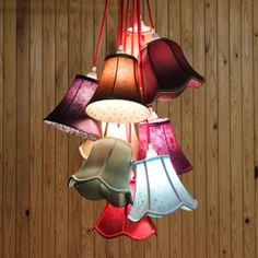 9灯ペンダントライトSaloonFlower9(サルーンフラワー9)ファブリックシェード天井照明インテリア照明KAREDESIGNカレデザイン送料無料送料込