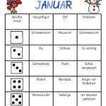 Würfeln und schreiben im Januar