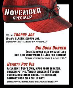 November Monthly Specials 2012 #Man Food #November #Pot Pie #Northern Michigan