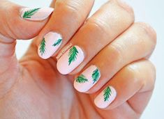 Nails Context: Be-leaf it or not, it's #summer time and tropical leaves nails are trending right now