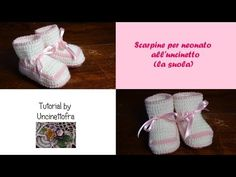 scarpine neonato all'uncinetto tutorial (la suola) - YouTube