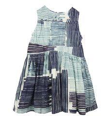 Blue Line Print Dress