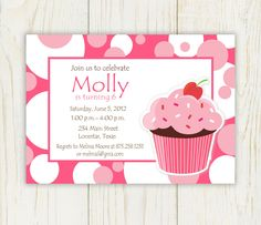 50 best cupcake invitations images on pinterest cupcake