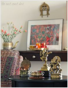 Pictured above: Sruthi's living room at Diwali.