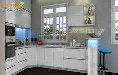 Tủ Bếp Gỗ Acrylic - Mẫu Tủ Bếp Gỗ Acrylic - Bếp Gia Đình
