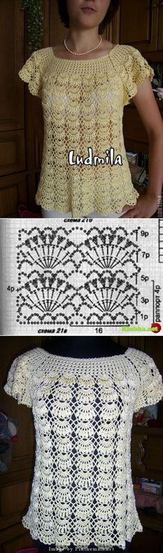 Raglan lace top ~~ http://www.liveinternet.ru/users/4779392/post283580362/