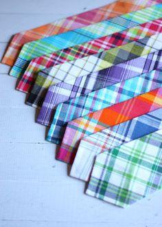 The Beau- NEW men's preppy plaid collection neckties- choose your favorite print. $24.00, via Etsy.
