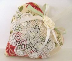 Cottage Chic Sachet Heart