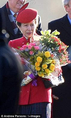 Princess Anne the Princess Royal: Queen Elizabeth II and family attend church services at Sandringham estate 12/29/2013