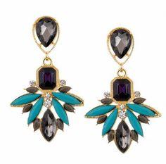 Aaishwarya Multicoloured Maze Crystal Earrings #earrings #earringsforwomen #danglers #crystalearrings