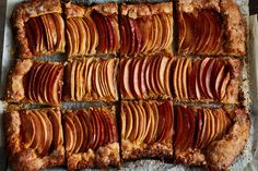 This Stunning Apple Galette Has a Secret Superpower - The real magic lies below those apple waves! Apple Galette with Tahini Frangipane & Honey-Hibiscus Glaze Healthy Desserts, Just Desserts, Healthy Recipes, Fancy Desserts, Apple Desserts, Healthy Food, Best Apple Recipes, Favorite Recipes, Sweet Recipes