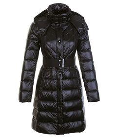 discount moncler coats - Moncler Cheap Down Coats Women Belt Decoration Black