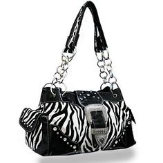 Black zebra purse