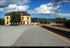 Hønefoss trainstation, Østlandet, Norway