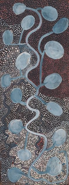 "Shorty LUNGKATA TJUNGURRAYI – ""Yunala or Bush Banana,"" Synthetic polymer powder paint on composition board. National Gallery of Australia, Canberra. Aboriginal Painting, Aboriginal Artists, Indigenous Australian Art, Indigenous Art, Sand Painting, Dot Art Painting, Abstract Images, Abstract Art, Art Maori"