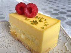 mango ginger mousse cake