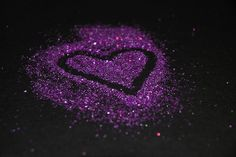 purple glitter heart