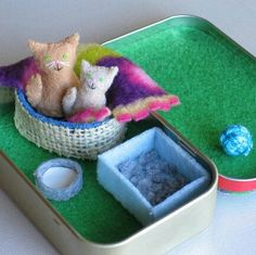 Little kitties play set.❤ #cat #kitten #catplayset