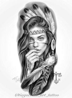 Half Sleeve Tattoos Drawings, Realistic Tattoo Sleeve, Half Sleeve Tattoos Designs, Forearm Sleeve Tattoos, Tattoo Design Drawings, Body Art Tattoos, Indian Women Tattoo, Indian Girl Tattoos, Skull Girl Tattoo