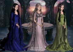Past, Present & Future: Lúthien, Galadriel & Arwen (LotR Scene Maker)