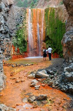 Cascade of Colors, La Palma, Canary Islands, Spain La Palma Canary Islands, Beautiful Islands, Beautiful Places, Places To Travel, Places To Visit, Spain And Portugal, Nature Scenes, Solo Travel, Amazing Nature