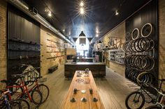 Handsome bike store by KNOCK