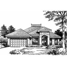 1550 sq ft - HousePlans.com - Plan 417-126   50 ft wide x  55 ft deep - Love it! No dimensions given for Kitchen/Eating