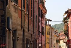 Beautiful, colorful houses of Gavi, Piemonte (Italy)