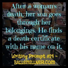 Writing Prompt #24 - The Death Certificate - ballemillner.com